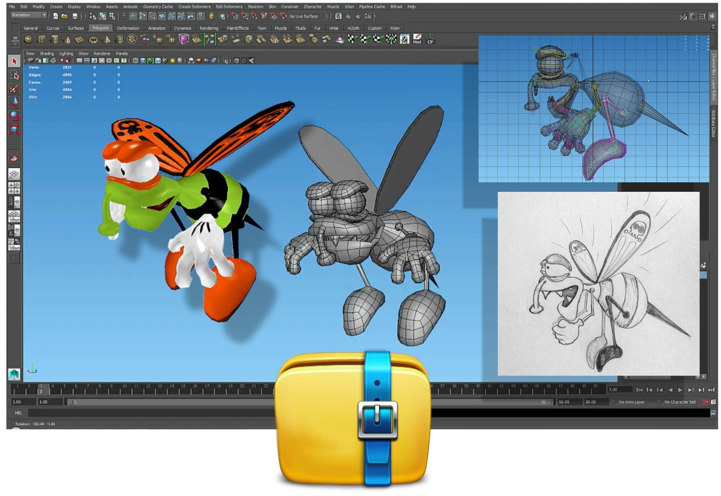 Cartoon Characters Unity : Make thousands with your art using unity d and maya