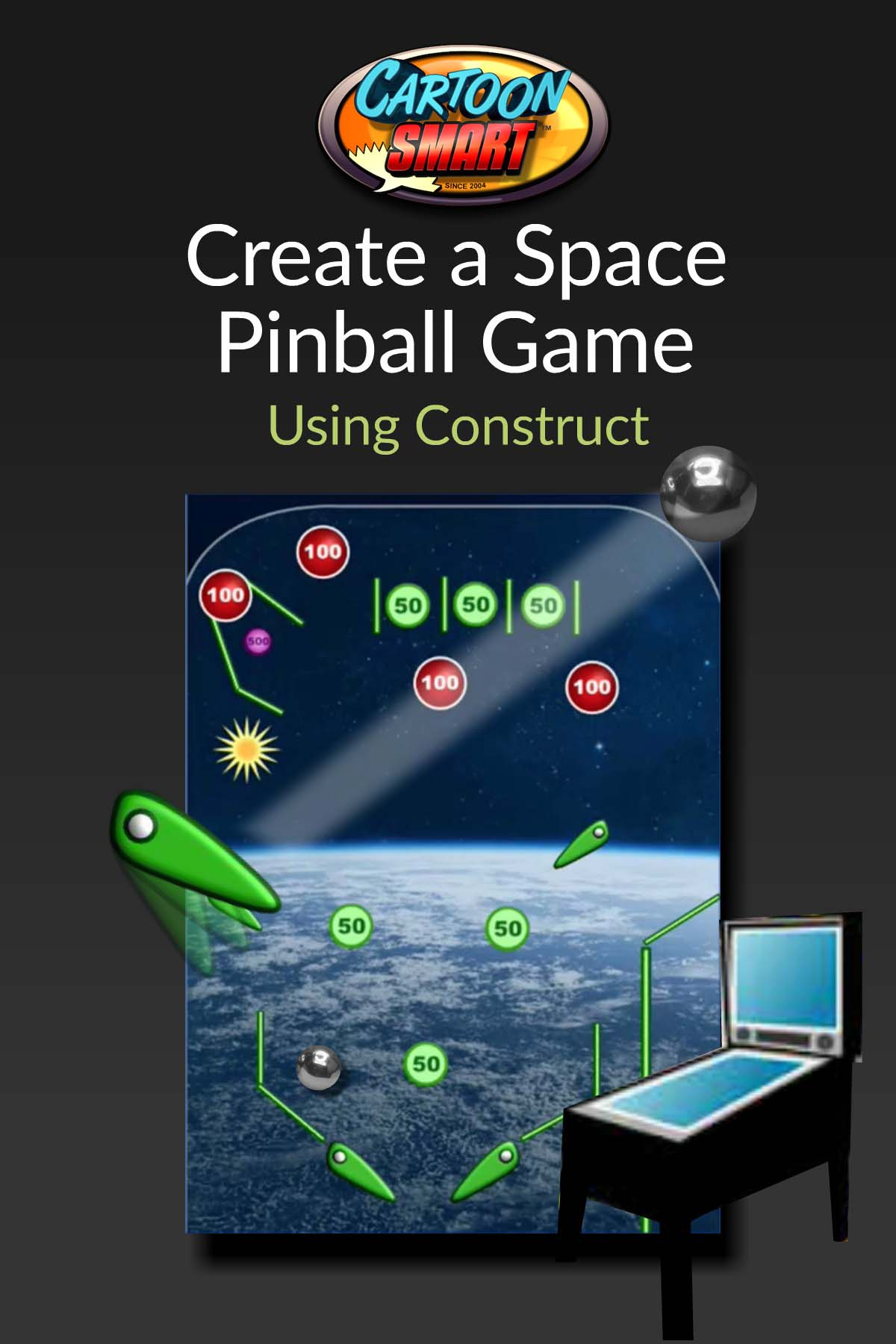Construct 2 space pinball video tutorials