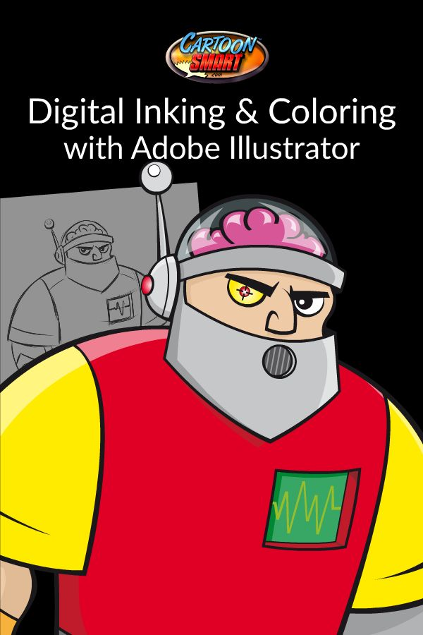 Digital Inking and Coloring with Adobe Illustrator video tutorials