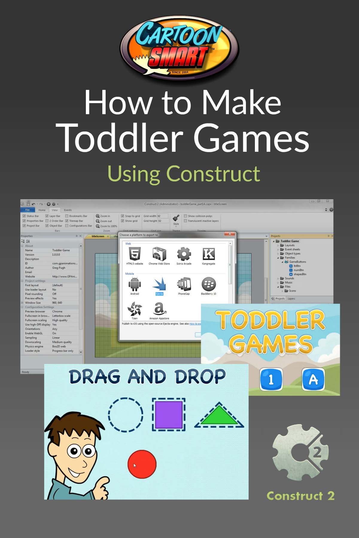 How to Make Toddler Games Video Tutorials for Construct 2