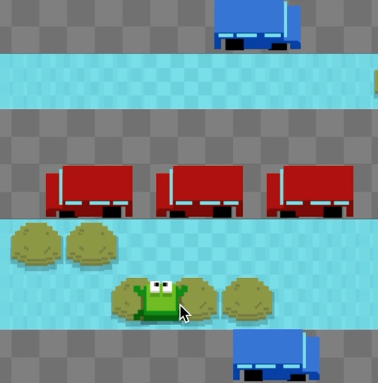 Endless Frogger Example