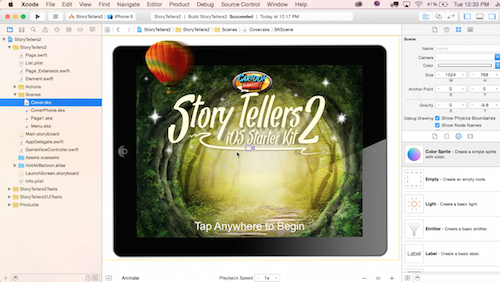 The Story Tellers Kit Session 1 is live! Preview some of Xcode 7's new features!