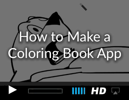 Coloring Page Demo and Setup Guide using the Story Tellers iOS Starter Kit 2