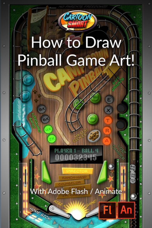 How to Draw Art for a Pinball Game Video Tutorials