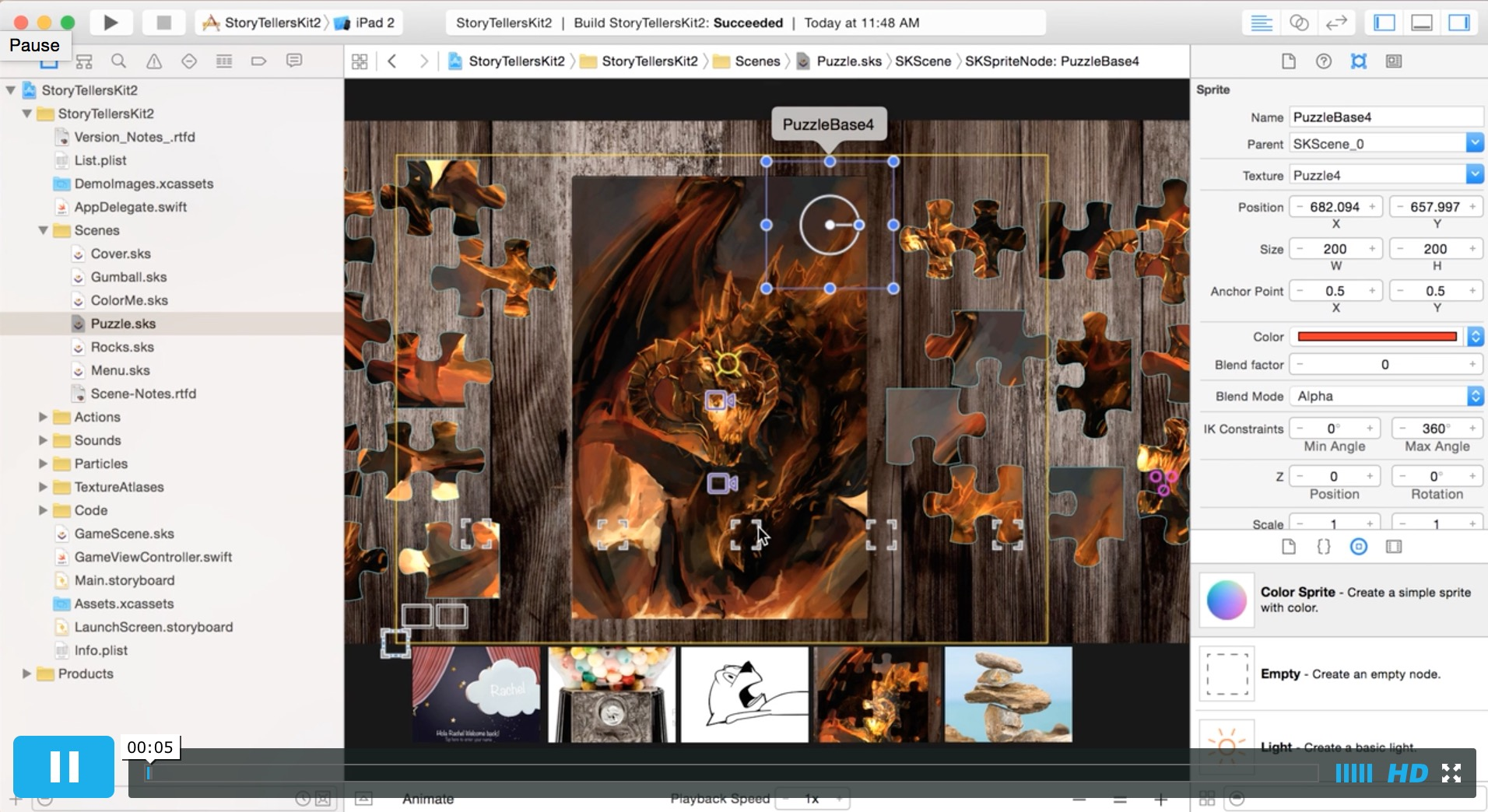 Video Guide To Making A Traditional Puzzle In The Story Tellers IOS Starter Kit 2