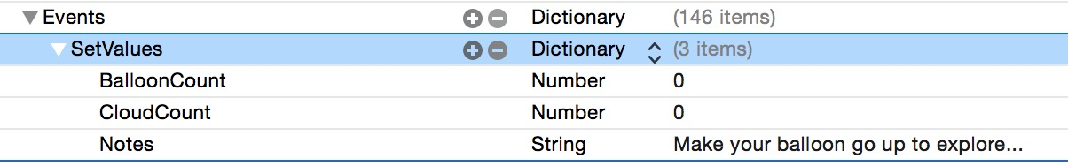 setting values in the ios9 kit