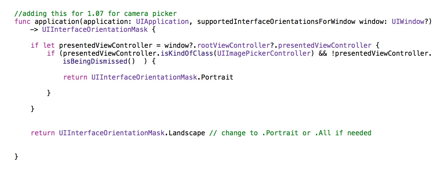 App delegate Xcode