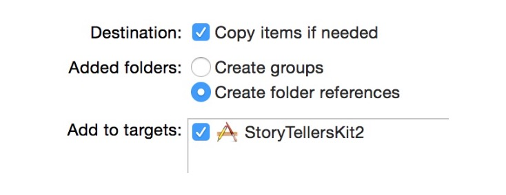 Add to Targets in Xcode