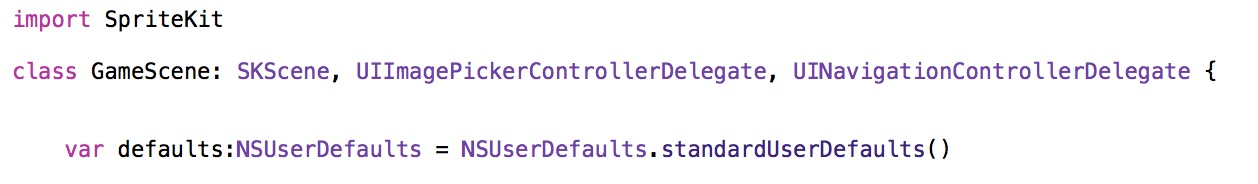 Declare variable for standard NSUserDefaults in Swift 1