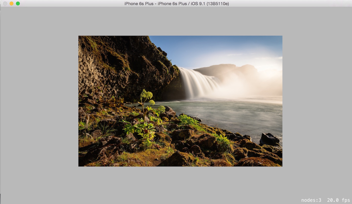 Reveal image from Camera roll with Swift2 and SpriteKit