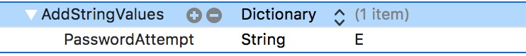 Add String Values Xcode