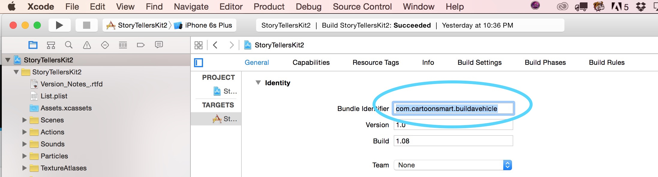 Entering your bundle ID in Xcode 7