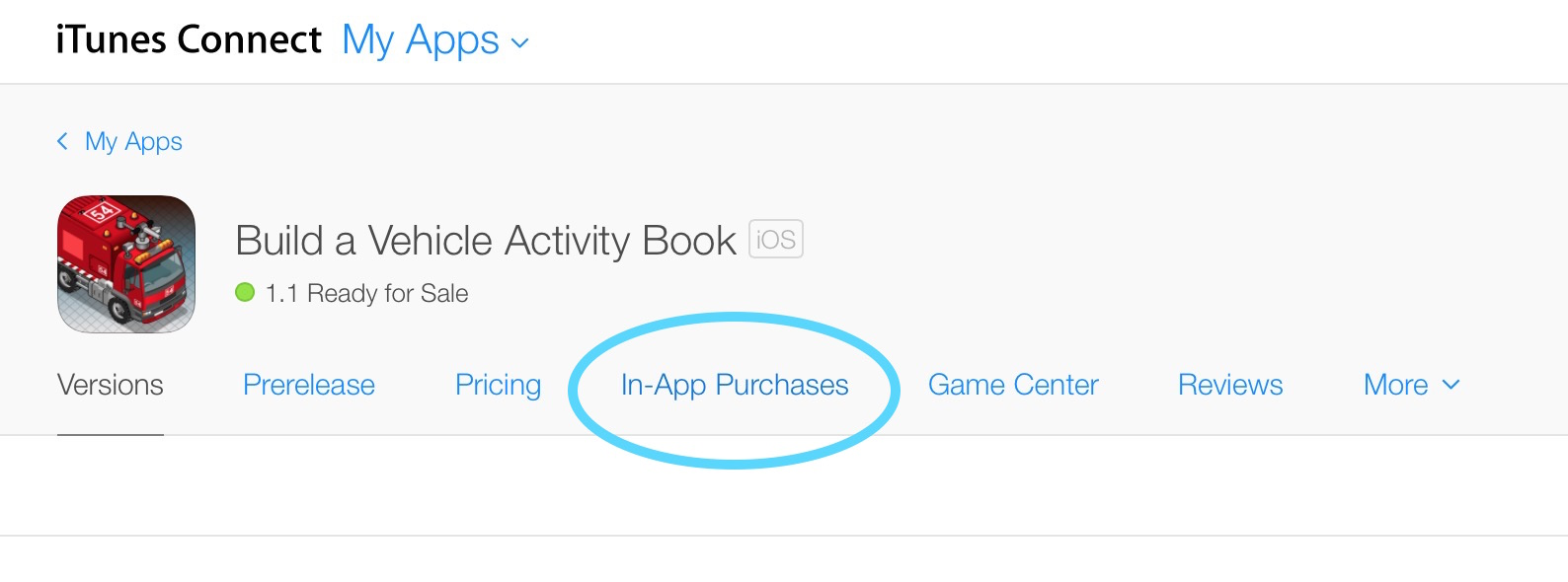 Where to setup In App Purchases