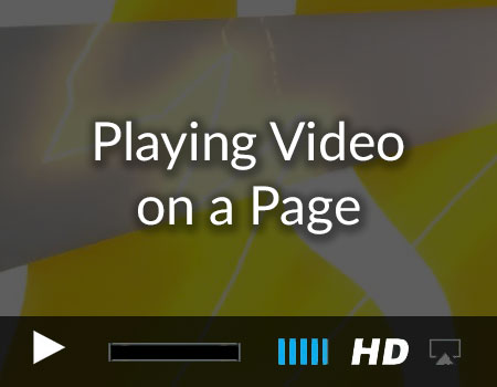 Adding video to a Page in the Story Tellers iOS Starter Kit 2
