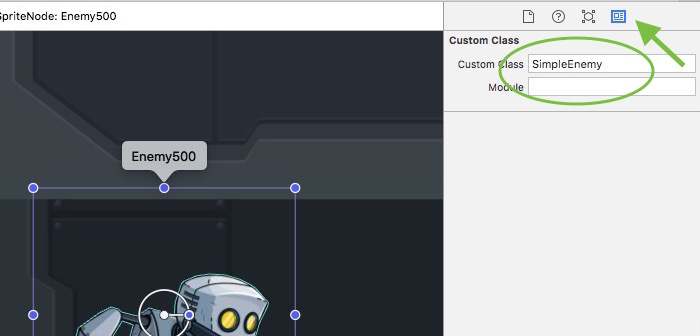 create a simple enemy in the tvOS and iOS platform games starter kit 1