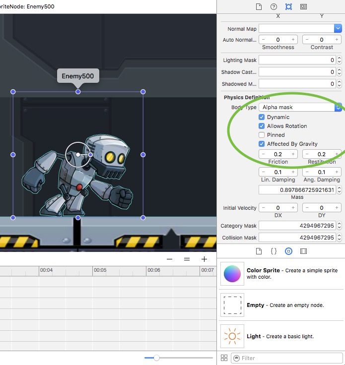 create a simple enemy in the tvOS and iOS platform games starter kit 2