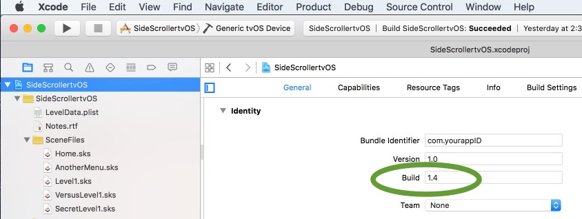 How to check Build number in xcode