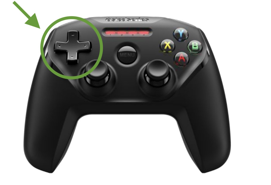 Which is the dpad on the extended controller
