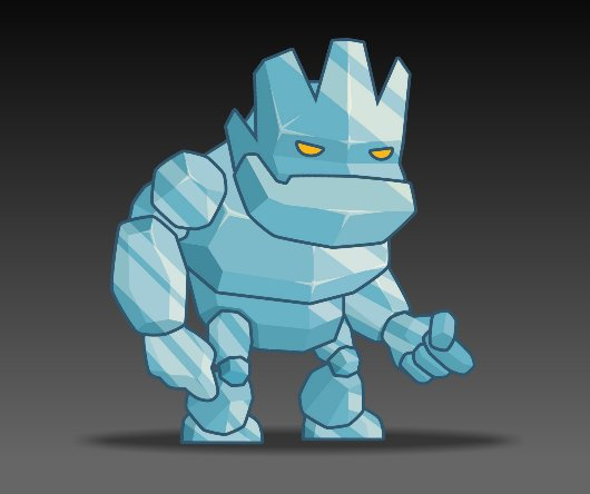 Ice Monster Royalty free Game Art