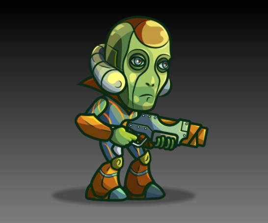 Android Boss Royalty Free Game Art Character
