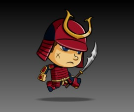 Armored Samurai Royalty Free Game Art Character