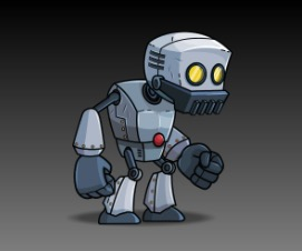 Big Hands Robot Game Art Character