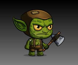 Goblin  Royalty Free Game Art Character