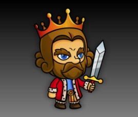 King Vlad  Royalty Free Game Art Character