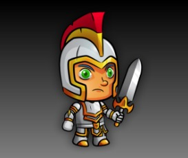 Knight  Royalty Free Game Art Character