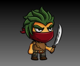 Thug Royalty Free Game Art Character