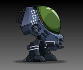 War Machine Robot Character