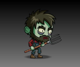 Zombie Farmer Character Game Art