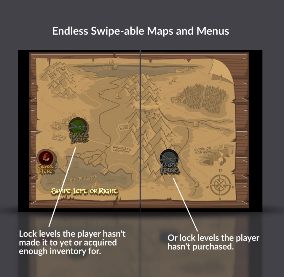 Endless Swipe-able Maps