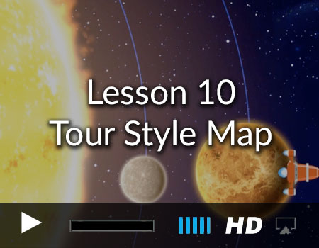 Tour Style Map using the Story Tellers Kit