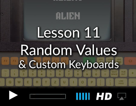 Tutorial 11 – Random Values, Pages and Custom Keyboards