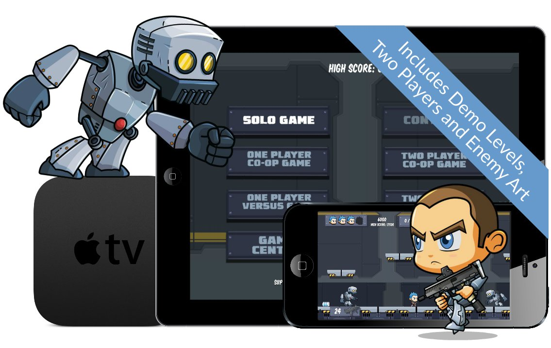 Platform Games iOS and tvOS Starter Kit Template