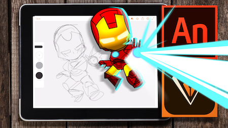 Digital Illustration Tutorial with Adobe Animate – Drawing Iron Man