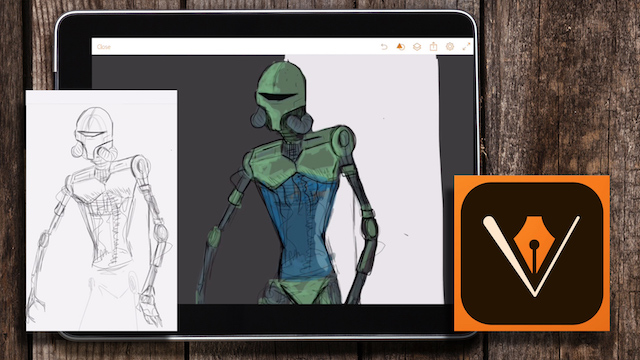 Free Digital Illustration Tutorial – How to Draw a Star Wars Style Droid