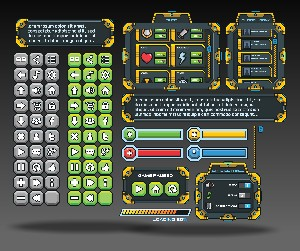 Sci Fi GUI Free Game Art