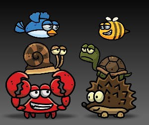 Cartoon Enemies Pack 2 Royalty Free Game Art