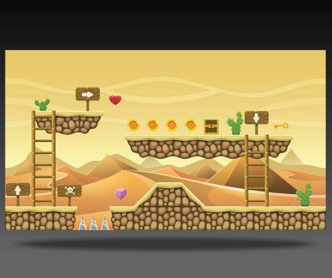 Royalty Free Game Art Egyptian Level