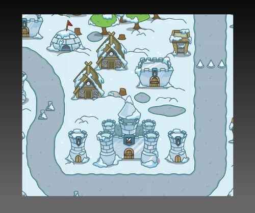 Snowy Top Down Tower Defense Set