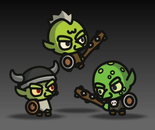 tiny goblin royalty free game art