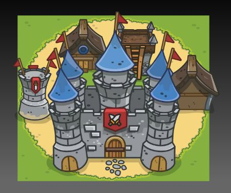 Medieval Top Down Tower Defense Art