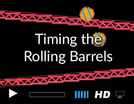 Timing Rolling Barrels with Swift and SpriteKit
