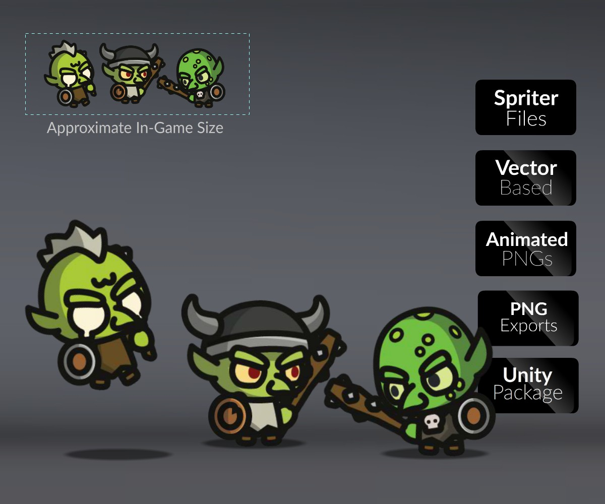 Goblins Royalty Free Game Art Character Sprites