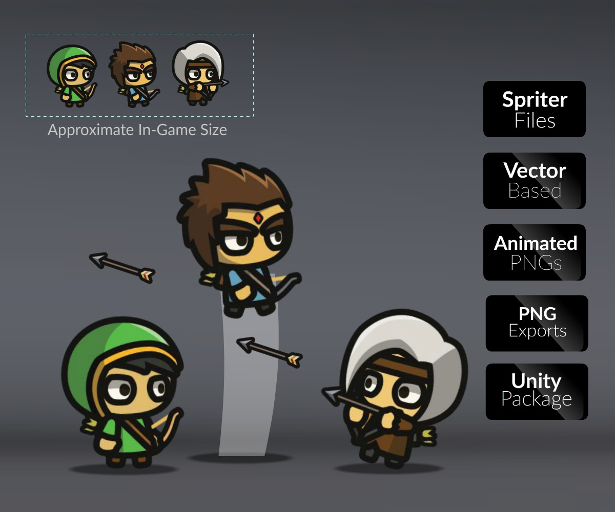 Archers Royalty Free Game Art Characters