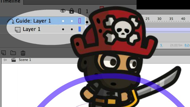 How to Animate along a guide path in Adobe Animate