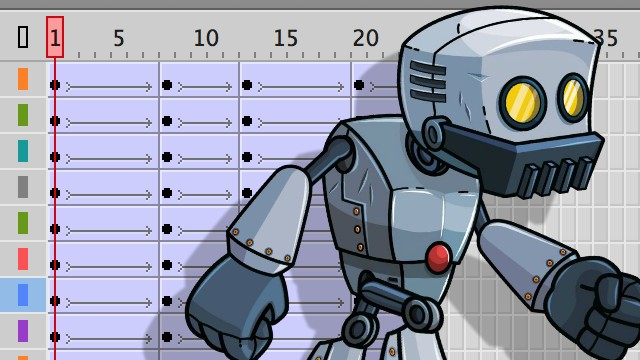 How to Animate a Walk Cycle in Adobe Animate - Robot Edition -