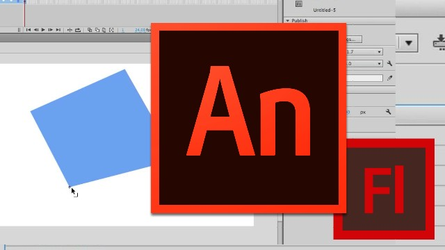 Adobe Animate or Flash Video Tutorial - Adjusting Vector Points